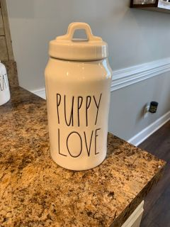 Rae Dunn Puppy Love Canister