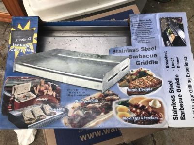 BBQ Griddle- stainless steel