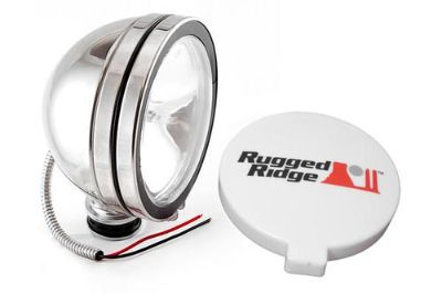 Purchase Rugged Ridge 15208.01 - Off Road Stainless Steel Fog Light motorcycle in Suwanee, Georgia, US, for US $60.24