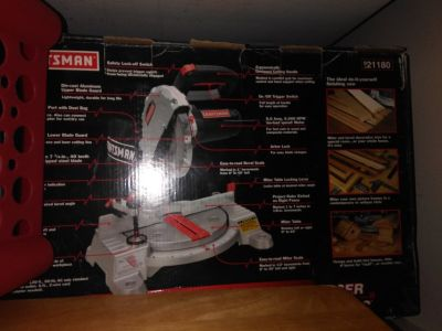 Craftsman 7 1/4 Inch Compound Miter Saw 9 Amp