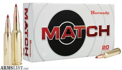 For Sale: Hornady 81500 Match 6.5 Creedmoor 140 GR ELD-Match 20 rounds-flat rate shipping $14.95 unlimited boxes