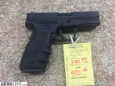For Sale: SPRINGFIELD XD45 45 ACP 4'' ALL BLACK
