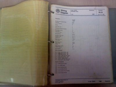Purchase Volkswagen Wiring diagram book 82-85 motorcycle in Corpus Christi, Texas, US, for US $65.00