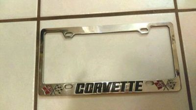 Find 70's Vintage Corvette C3 License Plate Metal Frame Bezel motorcycle in Hialeah, Florida, United States, for US $24.95