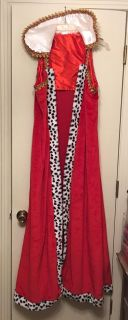 Halloween costume King/Queen etc Robe. One size fits all adult. Worn one time. Excellent condition