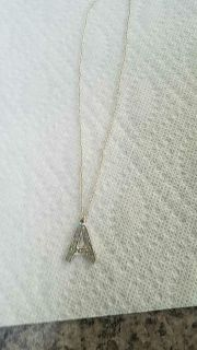 """Letter """"A"""" girls necklace"""