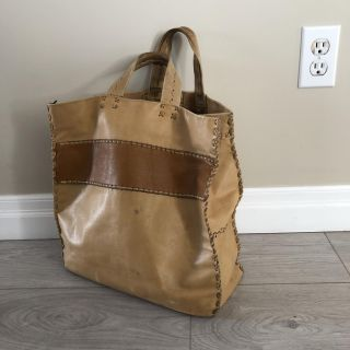 Well Used Leather Tote Bag
