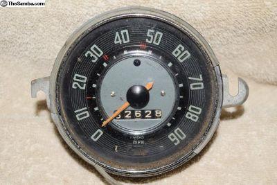 VW Bug VDO Date Stamped 7/65 Speeometer 90 MPH