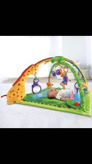 Fisher price baby rainforest soft gym musical toy mat