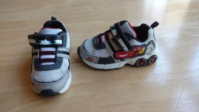 Cars light up shoes size 7 in good condition