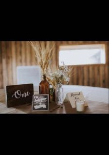 Table numbers & no phone sign