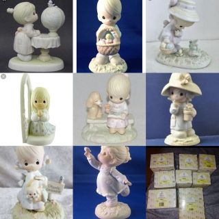 Precious moments porcelain figures