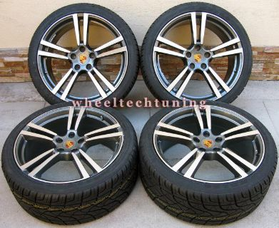 "Purchase 22"" PORSCHE PANAMERA TURBO II STYLE WHEELS RIMS TIRES GUNMETAL WITH MACHINE FACE motorcycle in Glendale, California, US, for US $1,700.00"