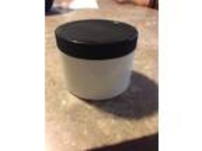 8oz White Plastic Jars (PET) With Black Cap Lot Of 5
