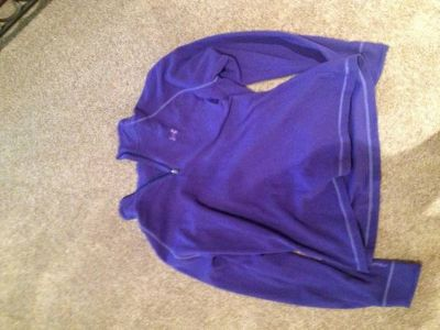 Purple under armour pullover xl