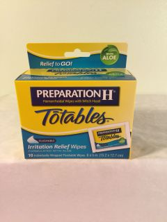 Preparation H totables relief wipes, 10 count