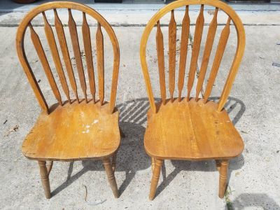 """Solid Wood Dining Chairs 17""""x19""""x36"""""""