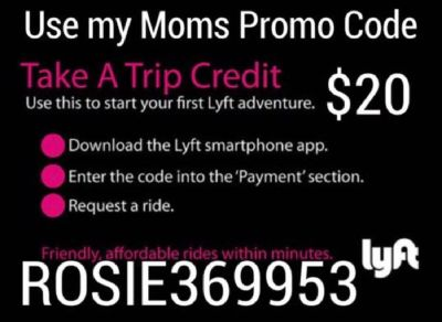 If you're interested in becoming a DRIVER, or a NEW PASSENGER 4 LYFT
