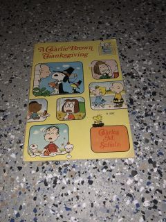 A Charlie Brown thanksgiving vintage book (1975)