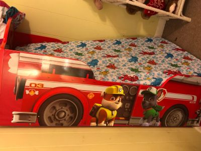Paw patrol fire truck toddler bed