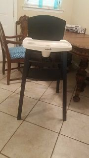 Safety first wooden high chair