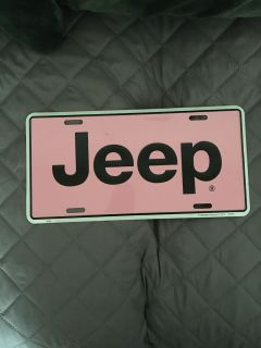 Jeep license plate