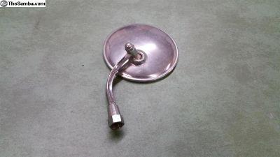 Round hinge pin mounted mirror