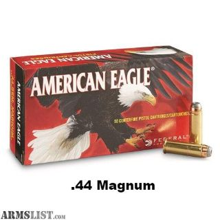 For Sale: Federal American Eagle 44 Magnum Ammo 240 Grain Jacketed Hollow Point $120 SAN JOSE