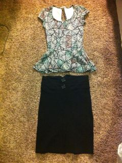 Charlotte Ruse Blouse and Pencil Skirt