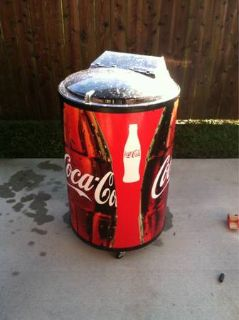 Coca Cola Barrel Cooler