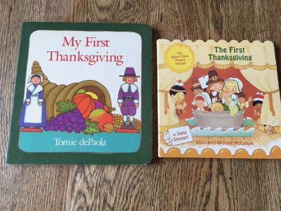 Set up gently used Thanksgiving board books