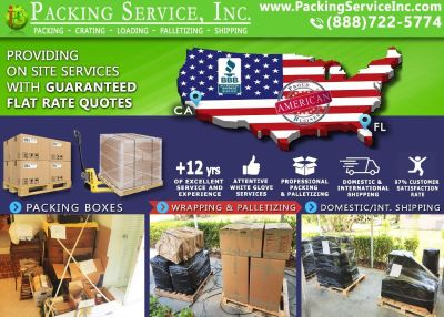 Packing Service, Inc. Wrapping Furniture and Loading International Containers - Fort Lauderdale, FL