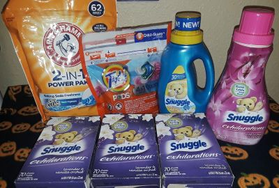 $20 Firm for Brandnew laundry lot-price for ppu-62ct A&H,15ct Tide pods & 5 snuggle