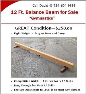 Gymnastics Balance Beam for Sale
