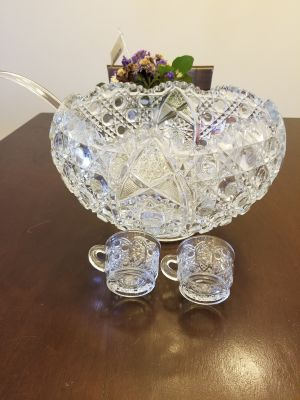 Vintage Smith Punch Bowl and Cups