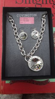 Brand new covington necklace with earrings
