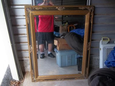 40 X 50 INCH MIRROR WITH WOOD FRAME