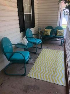 Like new patio furniture set and accessories