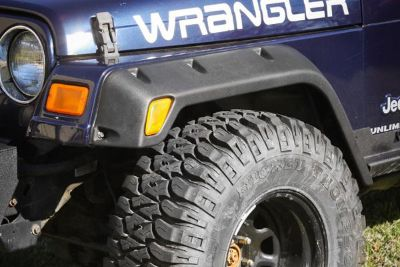 Purchase Rugged Ridge 11630.10 - 97-03 Jeep Wrangler All Terrain Fender Flare Kit 6 Pcs motorcycle in Suwanee, Georgia, US, for US $271.34