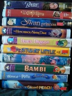 10 VHS movies for kids.