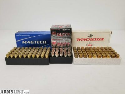For Sale: 160 Rounds of .45 Auto from Winchester, Magtech, and Hornady