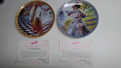 2 New Barbie Plates by Enesco