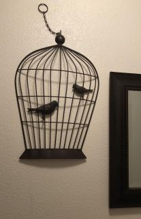 Birdcage metal decor (dark brown) approximately 2 feet tall & 15 inches across - Excellent condition - POMS