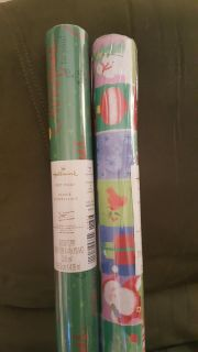 2 rolls of Hallmark wrapping paper