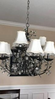 Chandelier Shades with Faux Crystals