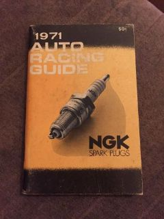 "Sell Nos Vintage NGK ""1971 Car ""AUTO RACING GUIDE"" Schedule results etc BOOKLET 96pgs motorcycle in Leola, Pennsylvania, United States, for US $6.99"