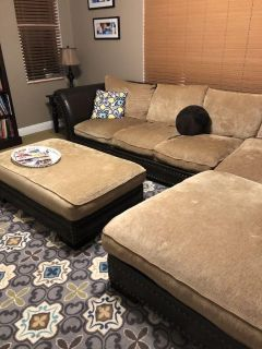 Sectional Sofa, Oversized chair and Ottoman