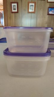 3 Rectangular Food Storage Containers - Each holds 8 Cups / 64 oz.