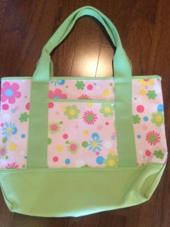 Pottery Barn heavy canvas bag with inside zipper pouch.