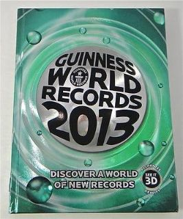 Guinness World Records 2013 Hard Cover Coffee Table Book HUGE 288 Pages